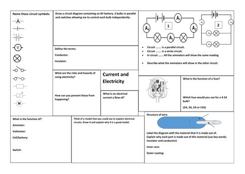 new exploring science 7j current electricity revision poster by rgkdavies93 teaching resources. Black Bedroom Furniture Sets. Home Design Ideas