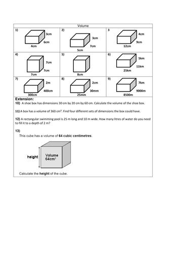 KS3 - Volume of Prisms PowerPoint by bcooper87 - Teaching ...