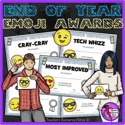 End of the Year Emoji Certificates