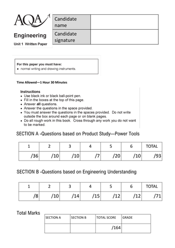 aqa gcse engineering coursework Engineering fab lab gym learning english language gcse (aqa) course code: innovative and enjoyable course which culminates in the new gcse examination in.