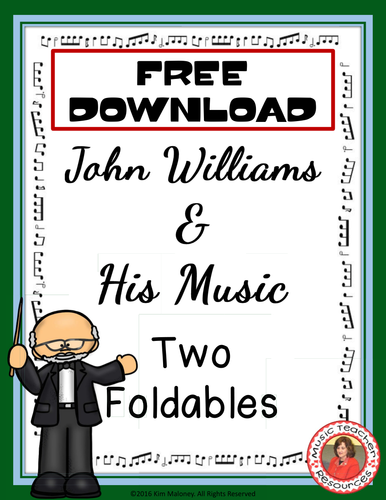 John Williams and His Music Foldables