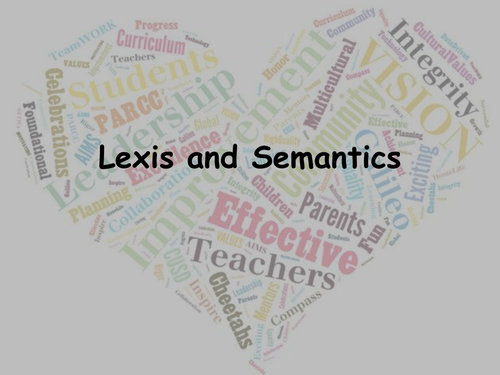 Lexis and Semantics: Word Classes