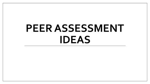 Peer Assessment Ideas