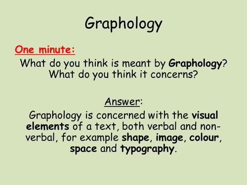 AS English Language: Introduction to Graphology