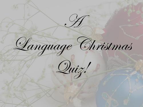 AS English Language: A Christmas Quiz