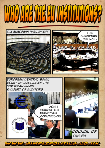 Comic book guide to the Institutions of the EU
