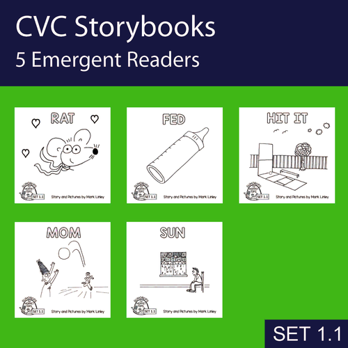 5 Emergent Readers ~ SET 1-1