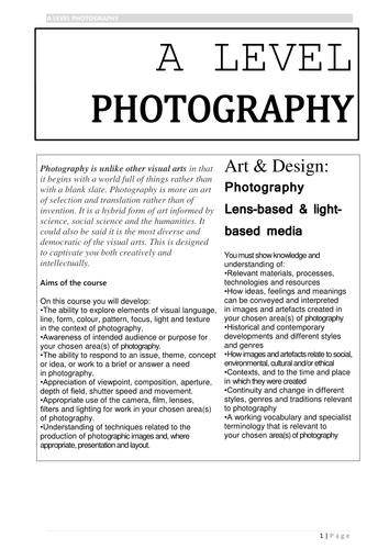 AQA A-Level Photography Handbook
