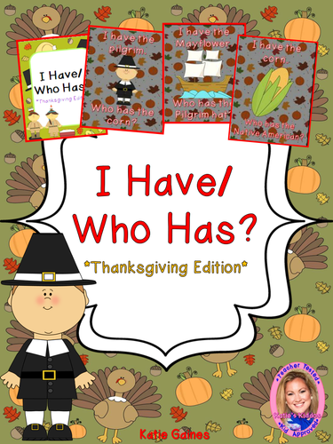 Thanksgiving Game: I Have/Who Has?