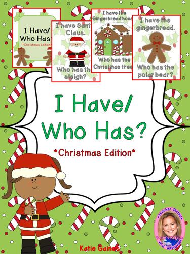 Christmas Game: I Have/Who Has?