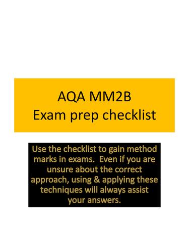 AQA Mechanics 2 revision techniques