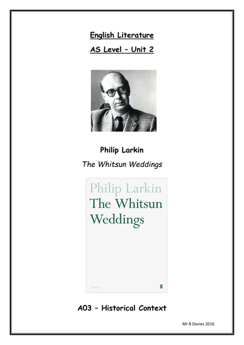 the whitsun weddings analysis
