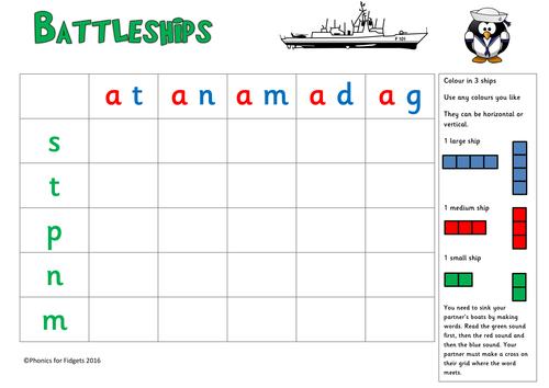 Battleships Phonics game