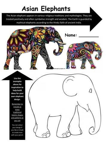 Islamic Art  Asian Elephants