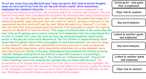Lesson on Act 1, Scene 5 Macbeth - AQA 2017 GCSE scheme. Extended ...
