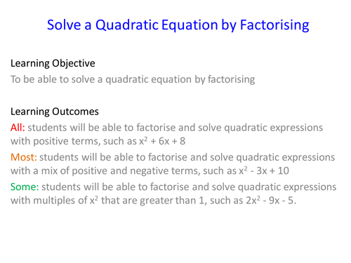 how to solve quadratic expressions