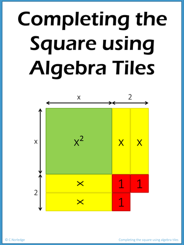 completing the square using algebra tiles by missnorledge teaching resources. Black Bedroom Furniture Sets. Home Design Ideas