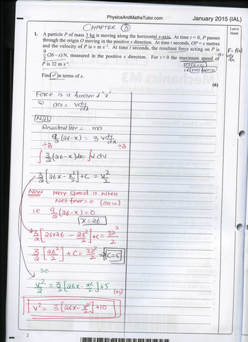 M3 edexcel Model Answers jan 15 IAL