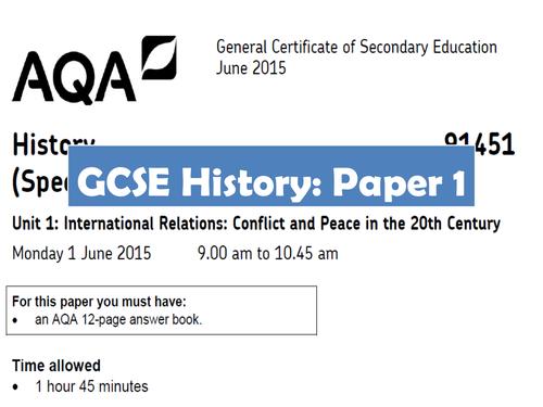 AQA GCSE History Paper 1 Revision