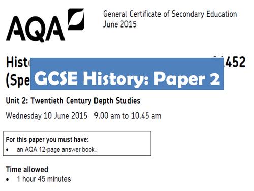 AQA GCSE History Paper 2 Revision
