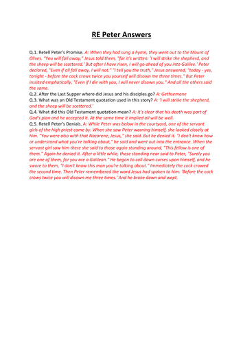 AQA Religious Studies St Mark's Gospel: Discipleship