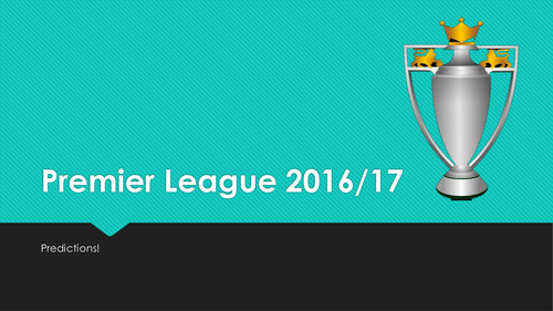 Ready to use English Premier League quiz and prediction activity with team selector. Soccer!
