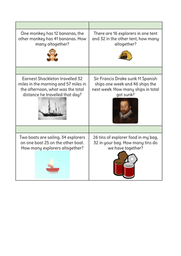 KS1 Addition: Workshop for parents, Worded problems and Calculation generation poster.
