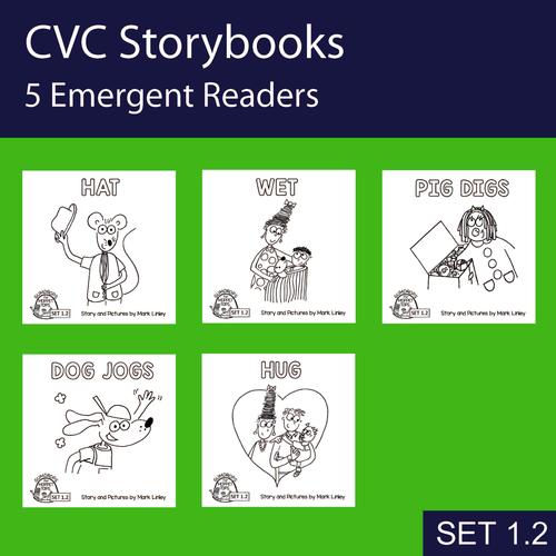 5 Emergent Readers ~ SET 1-2