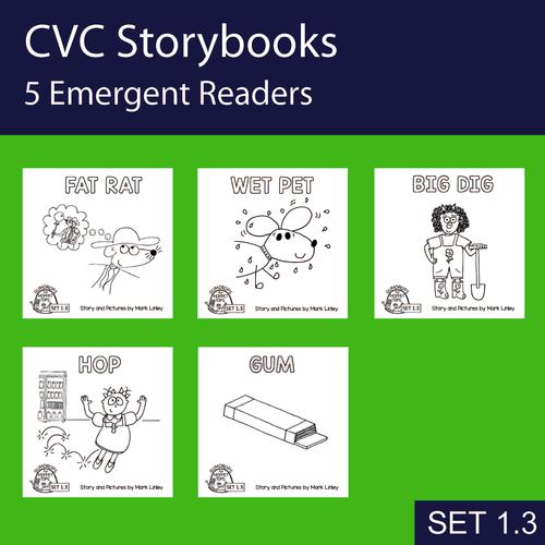 5 Emergent Readers ~ SET 1-3