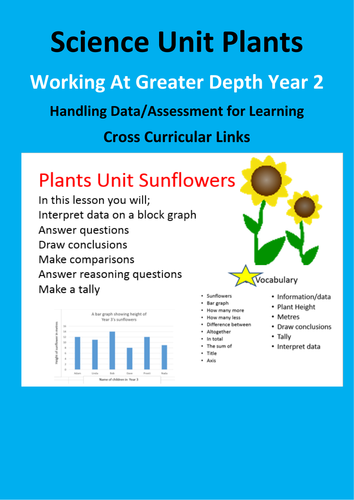 Plants and Science Year 2 Interpreting Data and Greater Depth Maths