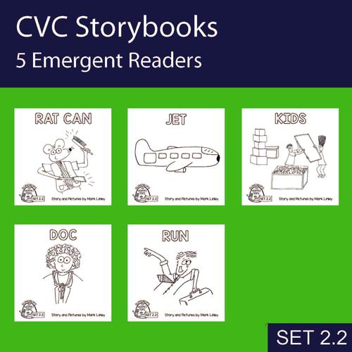 5 Emergent Readers ~  SET 2.2