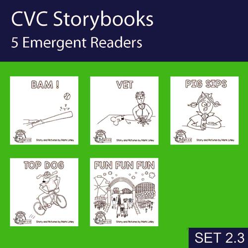 5 Emergent Readers ~ SET 2-3