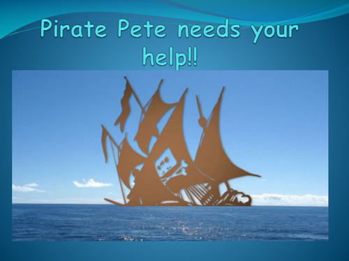 Pirate float and sink PowerPoint lesson intro