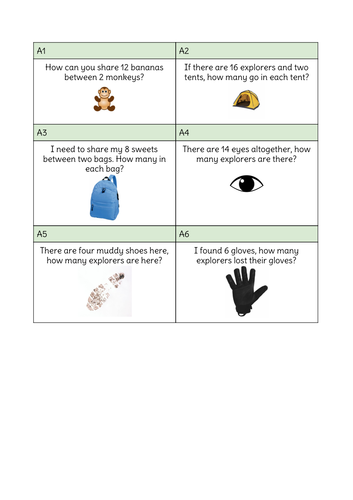 KS1 Year 2 Maths Reasoning Worded Problems - Multiplication, Division, Addition and Subtraction