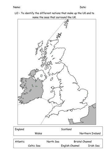 Label the UK seas and world oceans by Mandem2014  Teaching