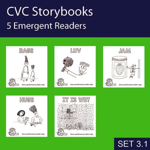 5 Emergent Readers ~ SET 3-1