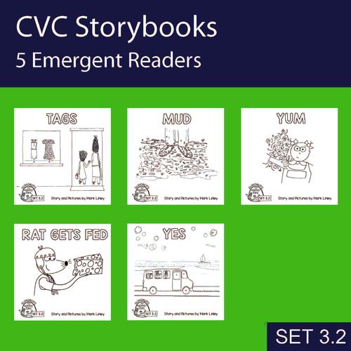5 Emergent Readers ~ SET 3-2