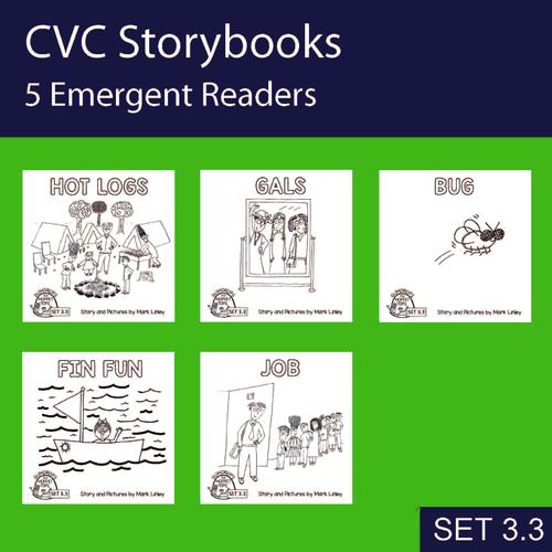 5 Emergent Readers ~ SET 3-3