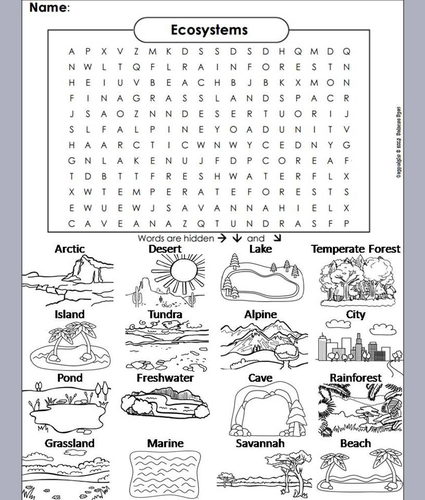 ecosystems word search coloring book by sciencespot teaching resources tes. Black Bedroom Furniture Sets. Home Design Ideas