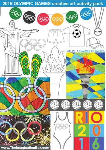 Summer Games Creative Art Activities Pack and Classroom Decor