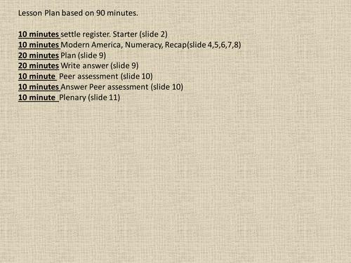 American Module - Assessment