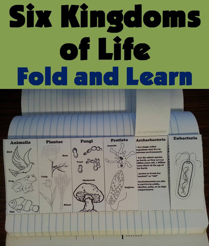 Six Kingdoms Of Life Fold And Learn By Sciencespot Teaching