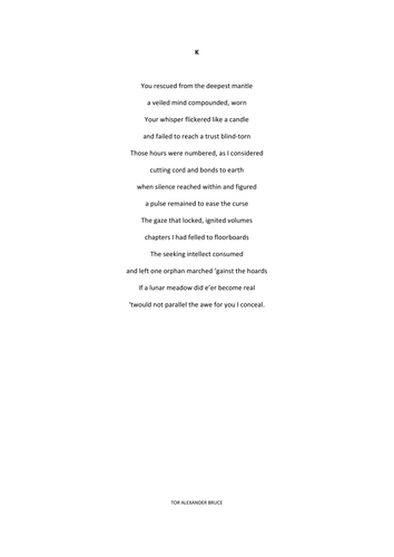 UNSEEN POETRY - A SONNET