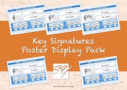 Key Signatures – Music Classroom Poster Display Pack