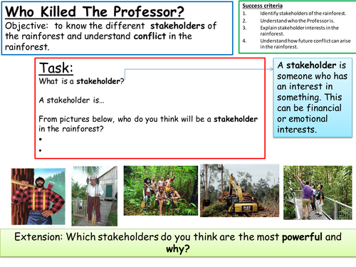 DME Who Killed the Professor? Rainforests