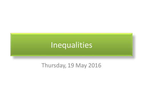 Solving inequalities involving quadratics