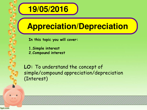Simple and Compound interest by ecooke04 - Teaching Resources - Tes