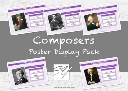 Composers – Music Classroom Poster Display Pack