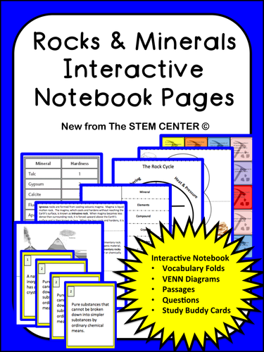 Rocks minerals interactive science notebook by stemcenter rocks minerals interactive science notebook by stemcenter teaching resources tes ccuart