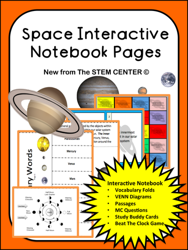 Space Interactive Science Notebook By Stemcenter Teaching